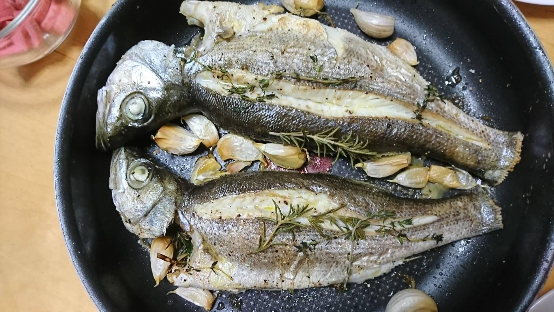 ヒラスズキ レシピ 洗いと香草オーブン焼き